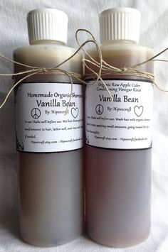 Vanilla Organic Shampoo and Conditioner Homemade by Hipeecraft