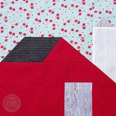Little House on the Prairie Sew Along; Barn Block