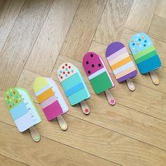Dann Sind Diese Eis Am Stil Einladungskarten Die Größten Vorfreudebringer  Für Die Kleinen Gäste! (Diy Geschenke Geburtstag)