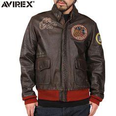 "AVIREX アビレックス ANTIQUE HORSE レザー A-2 フライトジャケット ""SOUND OF BLUES"""