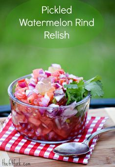 Pickled Watermelon Rind Relish - a sweet-sour-spicy salsa for your tacos, fish or any other southern dish - a crazy good condiment   -thefitfork.com