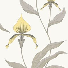 Cole & Son Orchid wallpaper in yellow