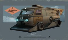 "ArtStation - Custom project UAZ-452 ""LOAF SUPERSONIC"", Andrey Tkachenko"