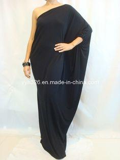 Long Kaftan Dress   2013 Women's Black Long One Shoulder Kaftan Maxi Dress Plus Size L Xl ...