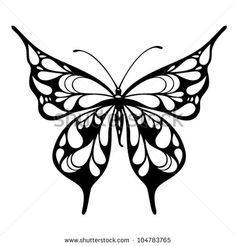 Stock Images similar to ID 87263197 - butterfly hand drawing.vector