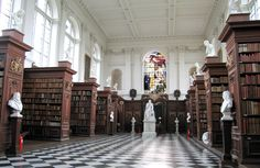 Wren Library, Trinity College ~ ~ ~ The University of Cambridge (informally known as Cambridge University or simply as Cambridge) is a public research university located in Cambridge, England.
