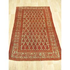 EORC Refurbished Wool Hand-knotted Malayer Rug in Rust (Red) (3'1 x 4'6) (3'1 x 4'6), Size 3' x 5'