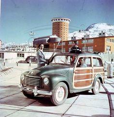 SESTRIERE 1954 - Fiat 500 C Belvedere