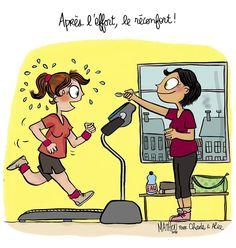 """Illustration par Crayon d'Humeur pour Charles & Alice : """"Après l'effort, le réconfort"""""""