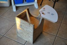 homemade spica activity chair - must get daddy on to this asap.