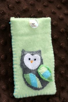 Cell phone case made from upcycled wool sweater!