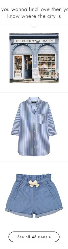 """""""If you wanna find love then you know where the city is"""" by bitofbritt ❤ liked on Polyvore featuring tops, blouses, shirts, isabel marant, blue, tailored shirts, blue stripe shirt, blue shirt, stripe blouse and stripe cotton shirt"""