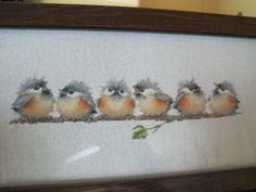 """Completed Cross Stitch – Valerie Pfeiffer's """"A Chorus Line"""" - This is so cute!"""
