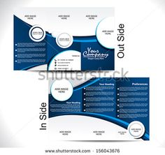 Corporate Tri Fold Brochure vector illustration