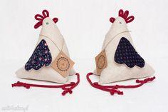 • dom - kura kurka z materiału wiosna wielkanoc - Art Anette