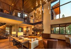 Brody Residence # 86 :: Olana Drive, Truckee, CA. House, Interior, Home, Modern House Design, Modern House, House Plans, Luxury Homes, Home Interior Design, Rustic House