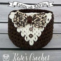 48 отметок «Нравится», 6 комментариев — trapillo yarn (@trapillo_yarn) в Instagram: «Эта корзинка из пряжи Шоколад, молоко и лео от @kate.s_crochet заслуживает трех январских купонов.…»