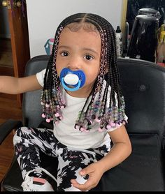 Black Kids Braids Hairstyles, Toddler Braided Hairstyles, Toddler Braids, Cute Hairstyles For Kids, Baby Girl Hairstyles, Braids For Kids, Hairstyle Ideas, Little Girls Natural Hairstyles, Loose Hairstyles