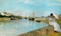 Morisot, de haven bij Lorient (kado voor Manet), 1869, www.artedelledonne.wordpress.com