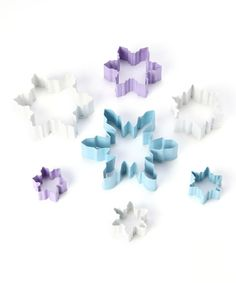 Take a look at this Snowflake Seven-Piece Cookie Cutter Set by R&M on #zulily today!