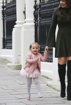 Ballerina chic: The little girl was no doubt the most stylish girl in her dance class than...