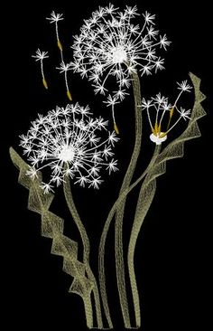 Free Machine Embroidery Designs Dandelions