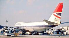 Vintage British Airways B747-100