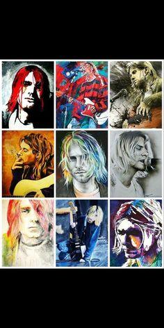 Kurt Cobain Art, Kurt Cobain Quotes, Nirvana Kurt Cobain, Nirvana Art, Nirvana Songs, Frances Bean Cobain, Donald Cobain, Band Wallpapers, Art Sculpture