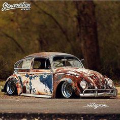Stunning Photos Of Volkswagen Beetle Rat Rods With Patina Look On The StreetsYou can find Rat rods and more on . Vw Modelle, Vw Rat Rod, E90 Bmw, Vw Cabrio, Kdf Wagen, Rat Look, Vw Vintage, Vw Volkswagen, Vw Beetles