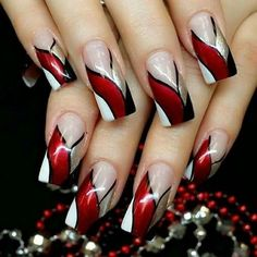 Red Ribbon Bang Red Ribbon Bang More from my site Red & Silver New Collections of Best Valentine's Day Nail Art Design Fantastic Red Nails Ideas For Stylish Ladies ✨ REPOST – – Elegant Nail Designs, Red Nail Designs, Elegant Nails, Beautiful Nail Designs, Beautiful Nail Art, Stylish Nails, Gorgeous Nails, Acrylic Nail Designs, Pretty Nail Art