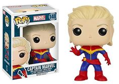 Funko POP Marvel: Classic Captain Marvel and Classic Spider Gwen Toy Action Figures - 2 Piece BUNDLE -- For more information, visit image link. (This is an affiliate link) #FunkoPop2017
