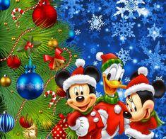 Diamond Painting Mickey, Minnie and Donald Christmas Tree Kit Christmas Tree Kit, Mickey Mouse Christmas, Mickey Mouse And Friends, Christmas Night, Christmas Scenes, Mickey Minnie Mouse, Merry Christmas, Disney Mickey, Christmas Markets