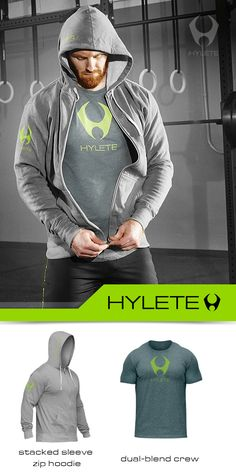 Our stacked sleeve zip hoodie has an athletic fit, made to keep you warm before, during, and/or after your workout. http://www.hylete.com/compete-performance-1-0-hoodie-charcoal-neon-green.html
