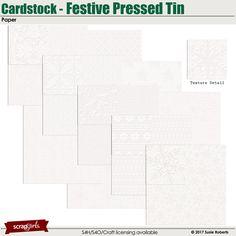 Cardstock - Festive Pressed Tin Paper