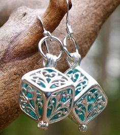 Filigree box earrings