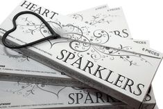 Designed with romance in mind, heart shaped sparklers enhance even the most elegant affair. Display or hand the heart sparklers out as wedding favors.