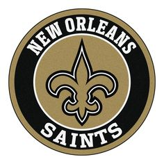 """For all those NFL fans out there, these 27"""" round rugs featuring the New Orleans Saints logo and colors look great in any man cave, game room, or anywhere esle in the house, even in the parking lot wh"""