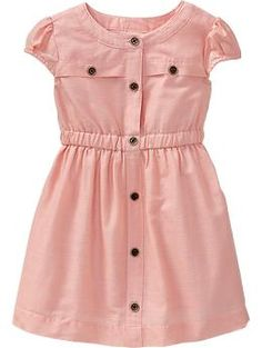 Button-Front Dobby Dresses for Baby  Thinking about getting this for Penny for the pictures.  What do you think?