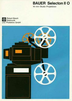 design-is-fine:Bauer Selection brochure, 16mm film, 1970. Bosch, Germany.