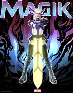 A Second Look at Magik: Redefining What it Means to be a Female Hero - - Magik Marvel, Marvel Comics Art, Marvel Heroes, Female Hero, Marvel Comic Character, Marvel Women, Comics Universe, Comic Books Art, Book Art