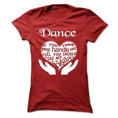 Dance TShirt  Full Heart =>   Dance T-Shirt - Full Heart!!!!          5.3 oz., pre-shrunk 100% cotton  Dark Heather is 50/50 cotton/polyester  Sport Grey is 90/10 cotton/polyester  Seamless half-inch collar  Side seamed  Cap sleeves  Double-needle stitched hems  Taped neck and shoulders