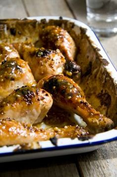 Sticky Mustard Chicken Drumsticks..I'm thinking of using dates for sweetness