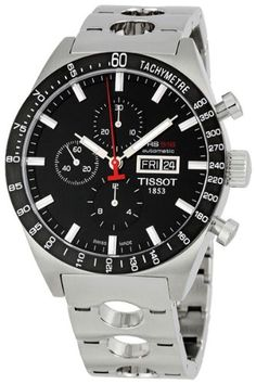SALE Tissot Men's T0446142105100 T-Sport PRS516 Automatic Black Day Date Dial Watch