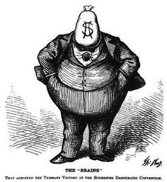 Thomas Nast cartoon of Tammany Hall's Boss Tweed Does Money Buy Happiness, Society Problems, Nyc, Urban Legends, Quites, Fat Cats, Political Cartoons, Satirical Cartoons, Art Reproductions