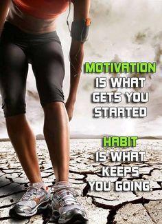#Motivation to move, #Habit = #success