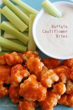 Skinny Spicy Buffalo Cauliflower Bites