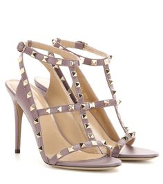 mytheresa.com -  Rockstud leather sandals - Valentino - Designers - Luxury Fashion for Women / Designer clothing, shoes, bags