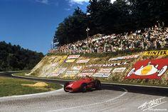 1957 GP Francji (Rouen) Maserati 250F (Jean Behra)