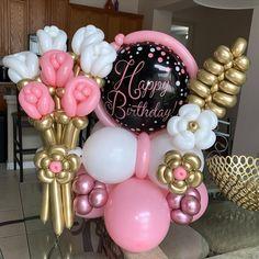 Balloon Flowers, Balloon Bouquet, Balloon Arch, Balloon Crafts, Balloon Gift, Birthday Balloon Decorations, Happy Birthday Balloons, Balloon Arrangements, Balloon Centerpieces