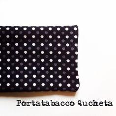 Portatabacco in stoffa, fatto a mano, con tasca interna per cartine e filtri